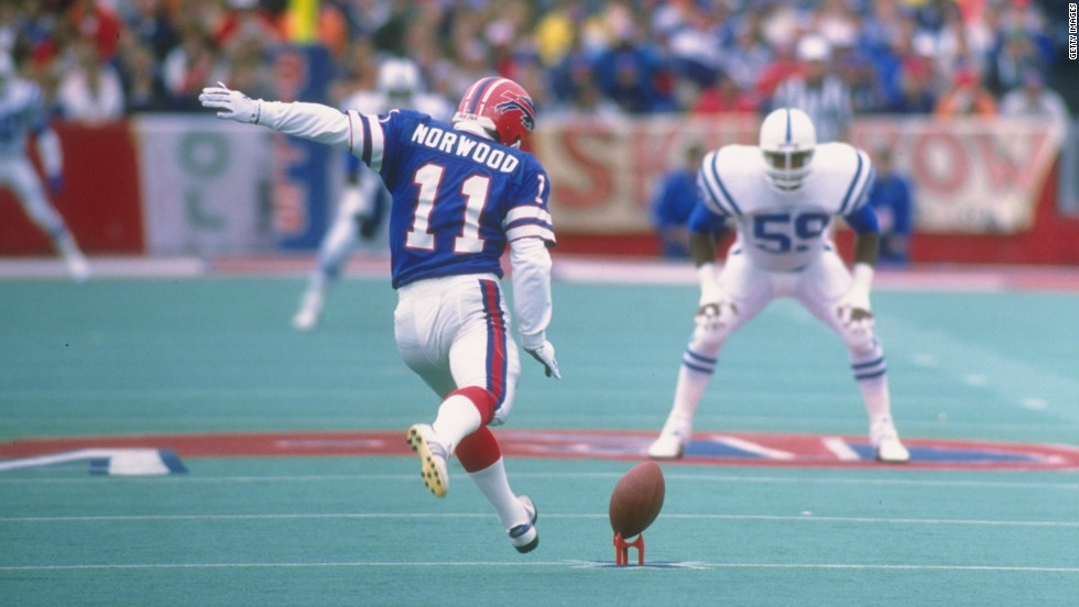 U.S. sport is not immune to chokes. Buffalo Bills kicker Scott Norwood has the unfortunate honor of being arguably America's most famous choker. At Super Bowl XXV against the New York Giants, Norwood missed a 47-yard field goal that would've won the Vince Lombardi trophy for the Bills. It marked the first of four consecutive Super Bowl defeats for Buffalo and a the start of a rapid descent out of the NFL for Norwood.