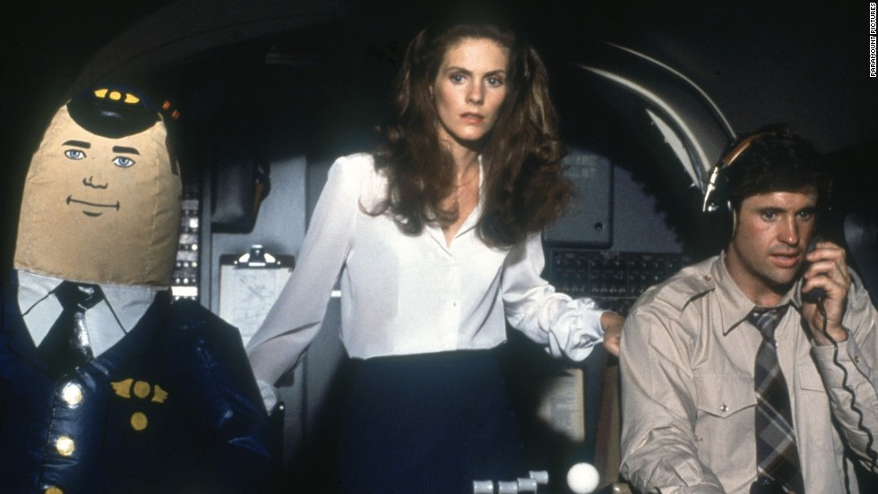 """Airplane!"" turns the disaster drama inside-out, playing it as an over-the-top comedy, complete with blow-up dolls."