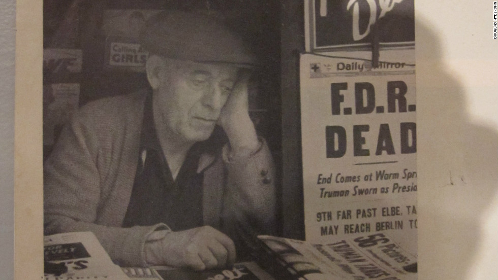 This is the picture that changed Kubrick's life. When he was just 16 years old, the future director snapped this shot of a newsstand worker on the day of FDR's death. It led to a job as a photographer for Look Magazine, and a career in photography and filmmaking was born.