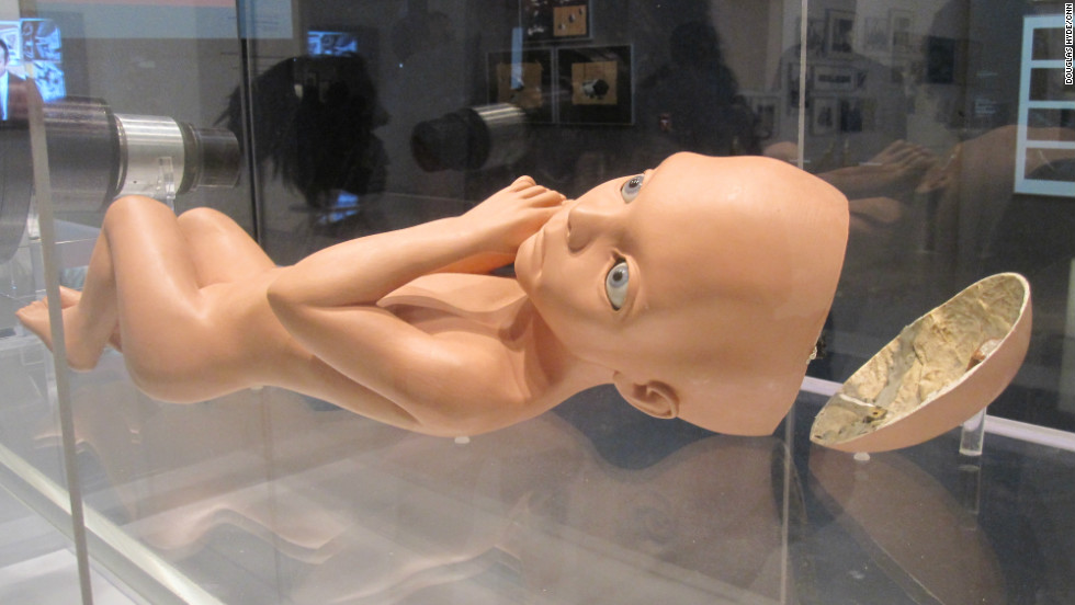 "A creepy baby doll? No, it's just the working model of the ""Star Child"" seen at the end of ""2001."" What does the great big space fetus represent? Well... that's open to interpretation."