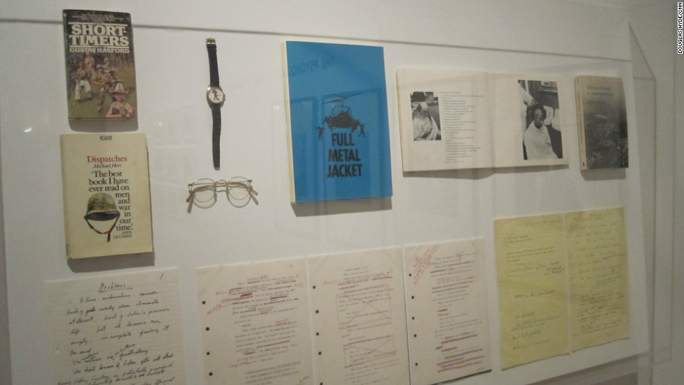 "Kubrick turned his attention to the Vietnam War in ""Full Metal Jacket."" Among the film's artifacts on display are the glasses worn by the lead character, ""Joker."""