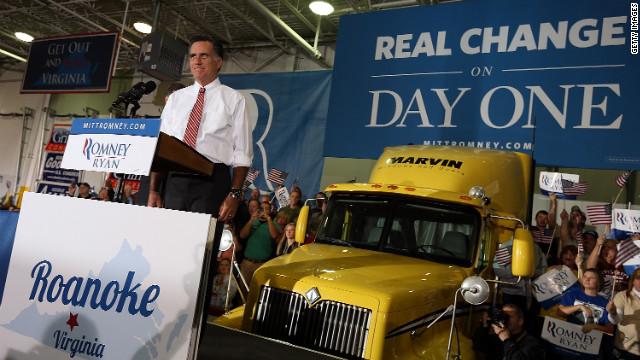 Romney decries 'shrinking' administration