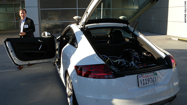 Stanford University's driverless car, an Audi TTS named Shelley, has hit 115 mph on a closed racetrack.