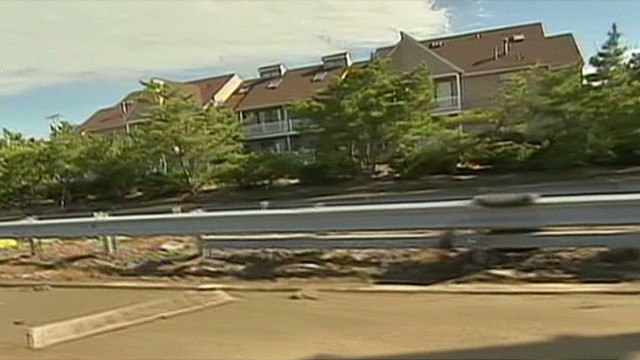 Ex-governor trapped in home after Sandy