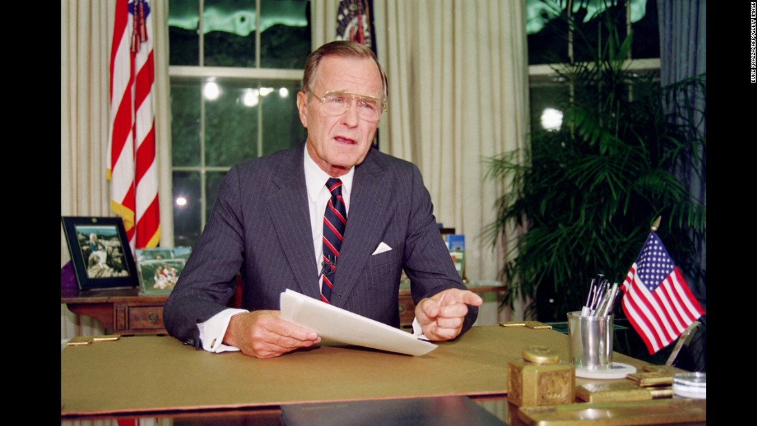 George H.W. Bush, the 41st president (1989-1993)<br />