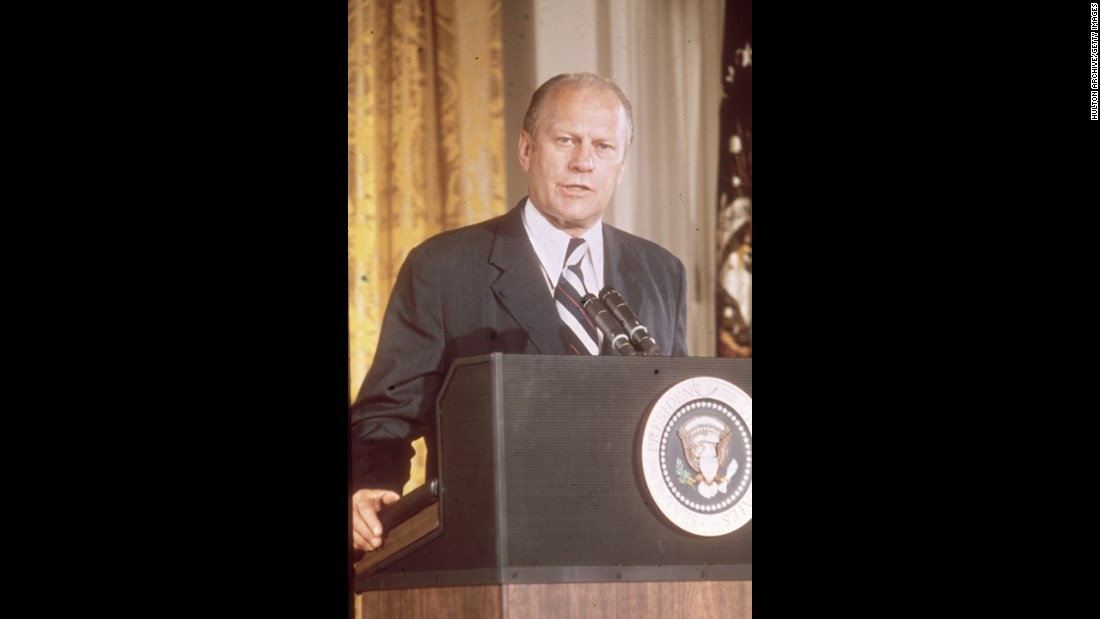 Gerald R. Ford, the 38th president (1974-1977)<br />