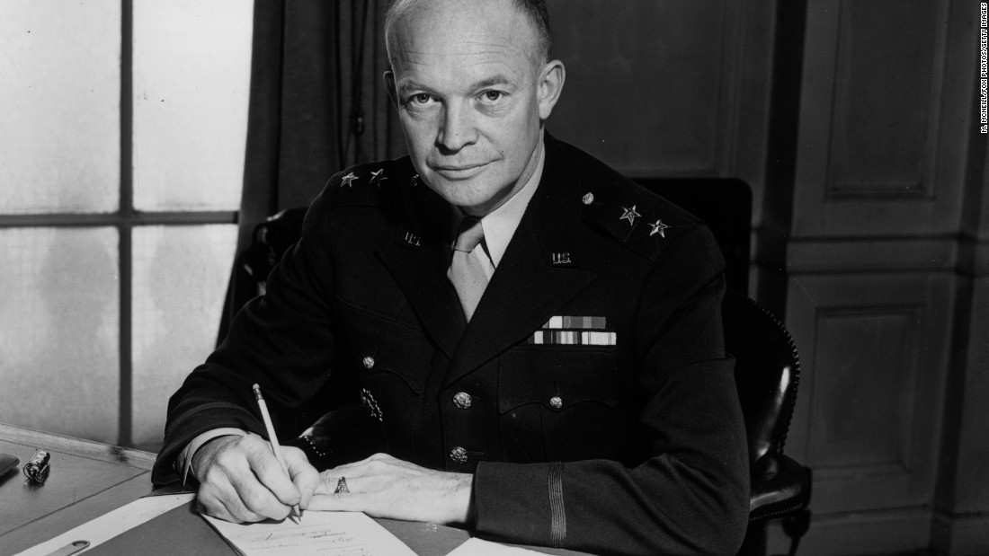 Dwight D. Eisenhower, the 34th president (1953-1961) <br />