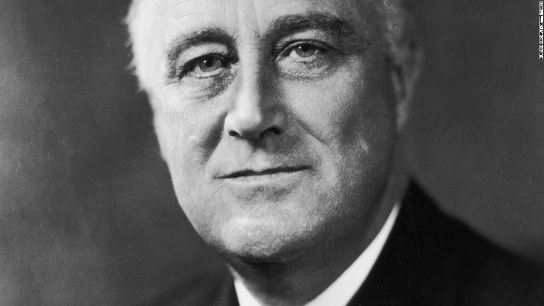 Franklin D. Roosevelt, the 32nd president (1933-1945) <br />
