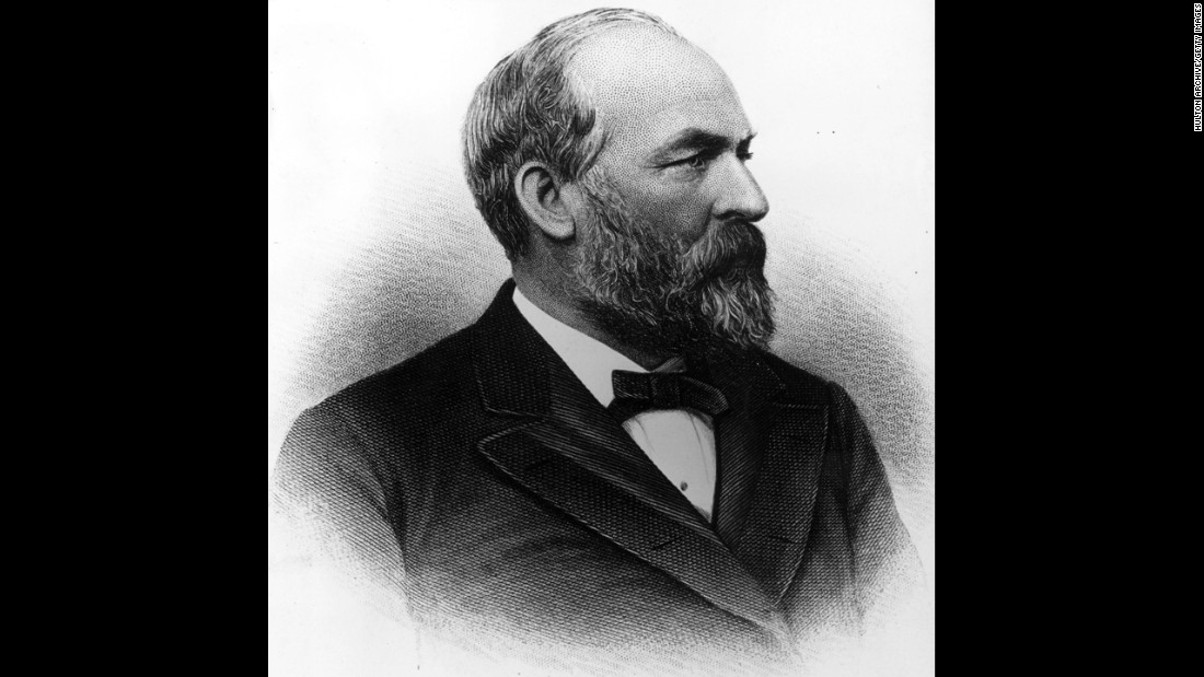 James A. Garfield, the20th president (March to September 1881) <br />