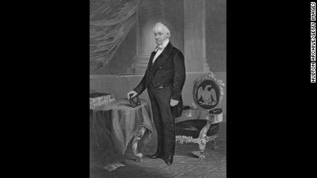 James Buchanan, the fifteenth president (1857-1861).