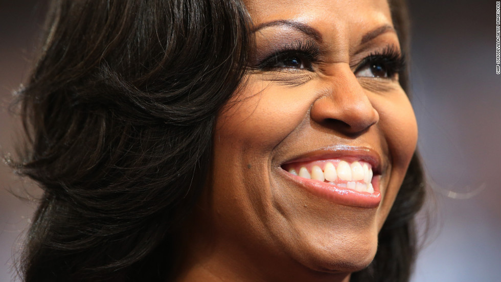 First lady Michelle Obama attends the final day of the 2012 Democratic National Convention.