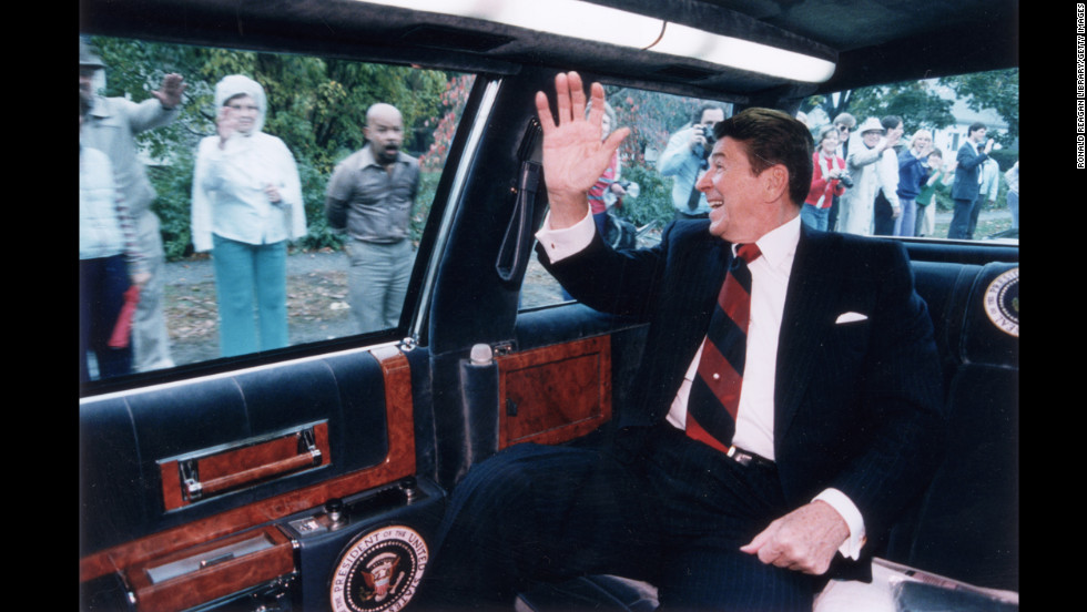 Ronald Reagan, the 40th president (1981-1989)<br />