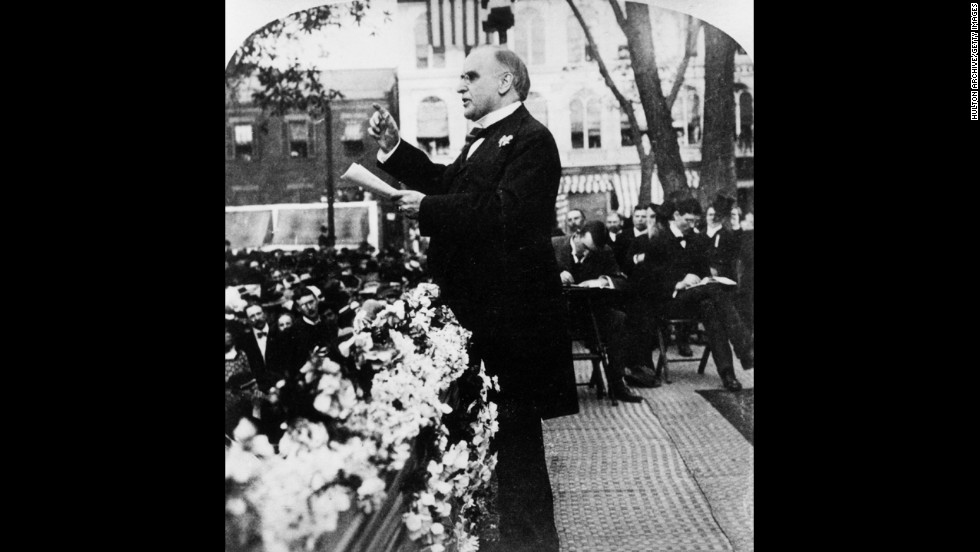 William McKinley, the 25th president (1897-1901) <br />