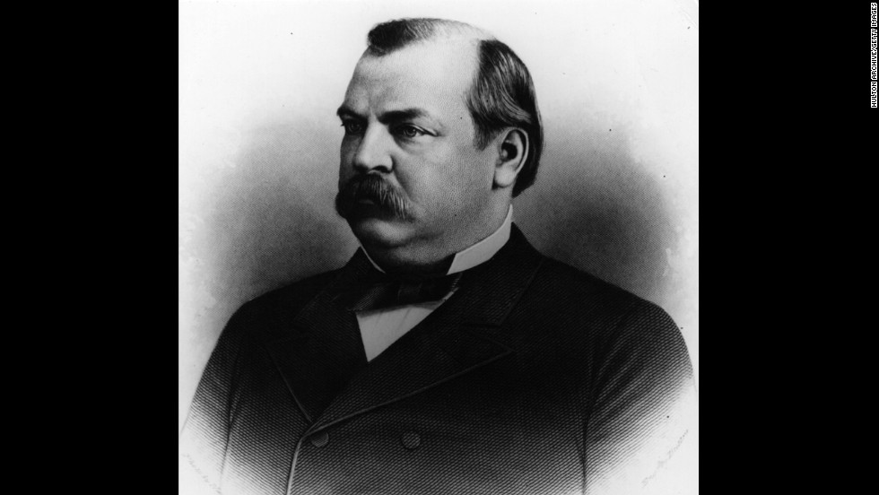 Grover Cleveland, the 22nd president (1885-1889) and the 24th president (1893-1897) <br />