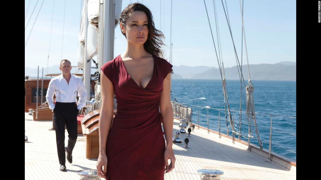 "Sévérine, played by Bérénice Marlohe, helps Bond track Raoul Silva (Javier Bardem) in ""Skyfall,"" which came out in 2012."