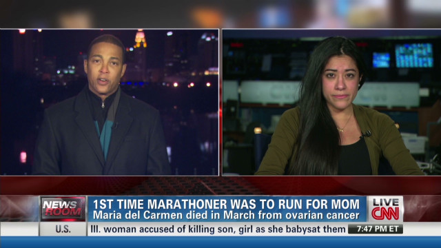 NY marathoner will still run for mom