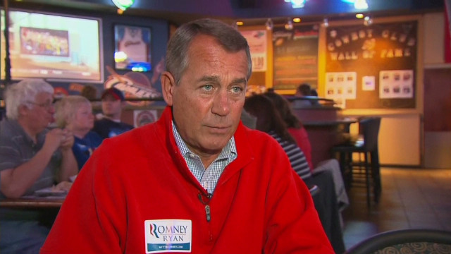 Boehner very confident on Romney