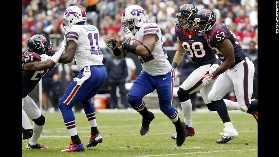 Bills running back Fred Jackson rushes against the Texans.