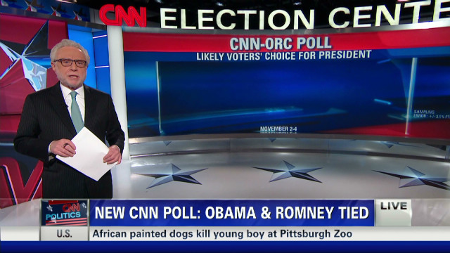 New CNN Poll: Obama 49%, Romney 49%