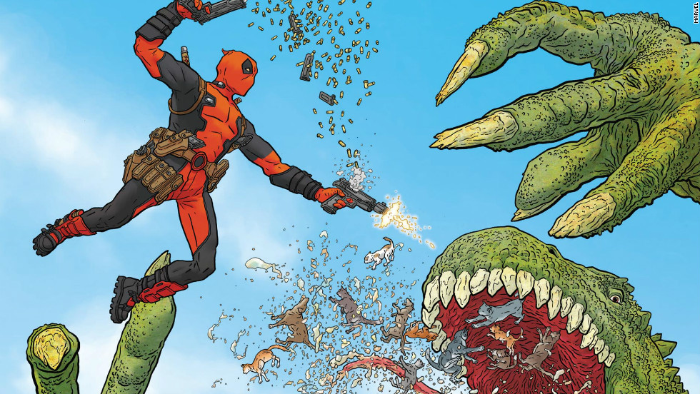 "Marvel Now's first issue of ""Deadpool,"" out November 7, takes something of an ""if it ain't broke, don't fix it"" approach, but Deadpool makes a grand entrance that has to be seen to be believed. The story, co-written by comedian Brian Posehn (""The Sarah Silverman Program""), puts a historical twist on the zombie trend, as Deadpool must face undead versions of dead U.S. presidents."