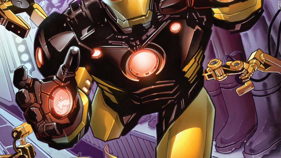 "In Marvel Now's first issue of ""Iron Man,"" out on November 7, a contemplative Stark re-evaluates his life's work and takes on an old enemy. His dialogue would fit if it were delivered by Downey. And, he has a brand new suit."