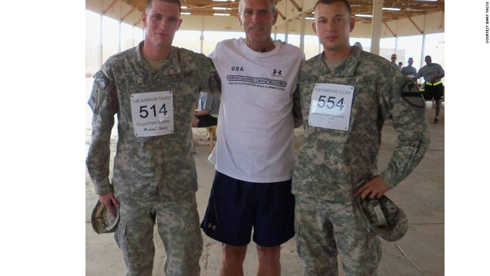 One of Yasso's trips this year involved traveling to Iraq to visit the troops and host a few 5k races.<br />