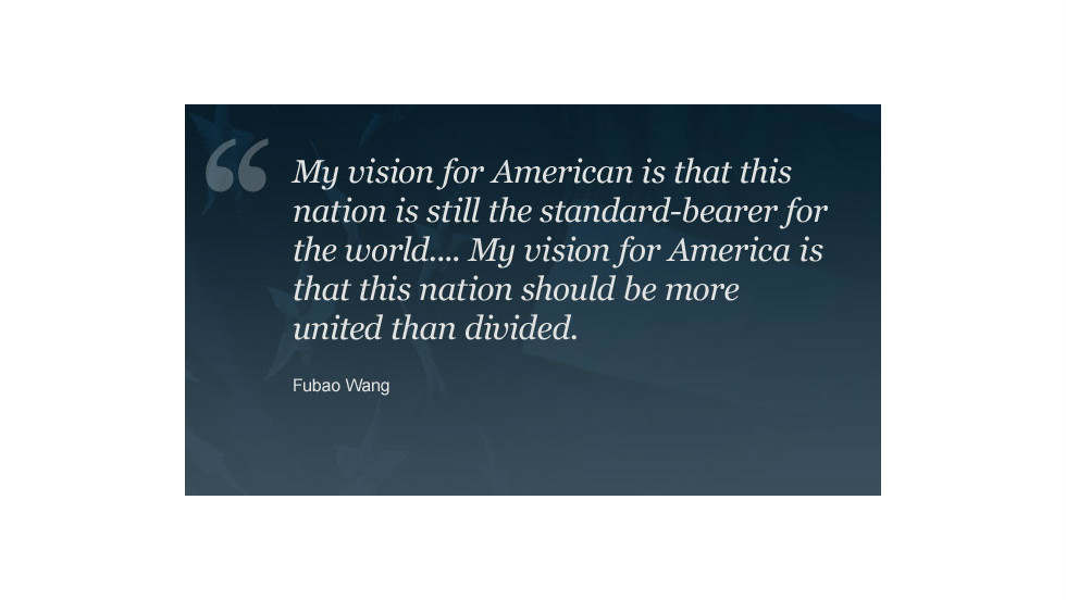 "<a href=""http://ireport.cnn.com/people/Torch2012"">Fubao Wang</a> became a U.S. citizen 10 years ago. You can read <a href=""http://ireport.cnn.com/docs/DOC-871637"">his vision for America on CNN iReport</a>."