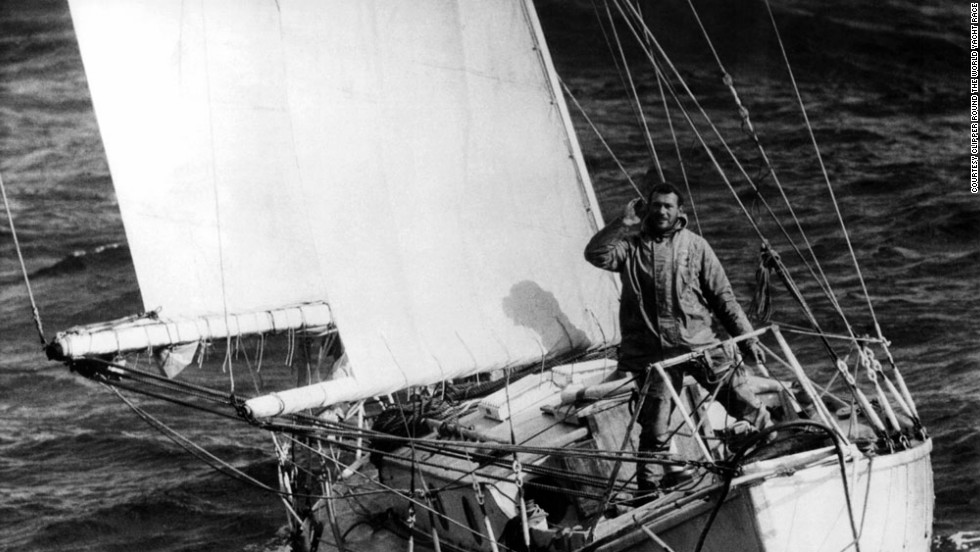 Sir Robin Knox-Johnston became the first person to single-handedly sail around the world in a 9.8 meter yacht, in 1969.