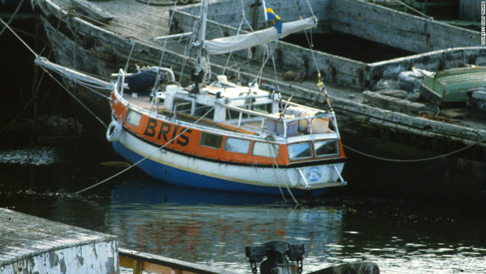 "The boat was named Bris, meaning ""breeze"" in Swedish. ""I built her in 1972 and sailed her until 1982, criss-crossing the Atlantic many times,"" Yrvind said."