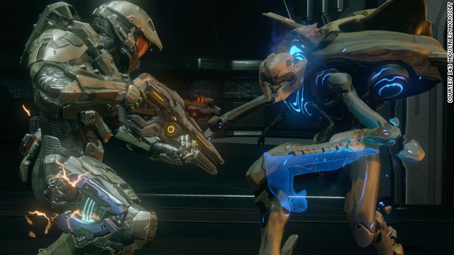 "Combat in ""Halo 4"" is more strategic than the hard-charging style we've come to know from previous ""Halo"" games."