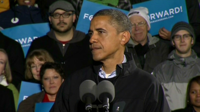 Obama gets emotional during final rally