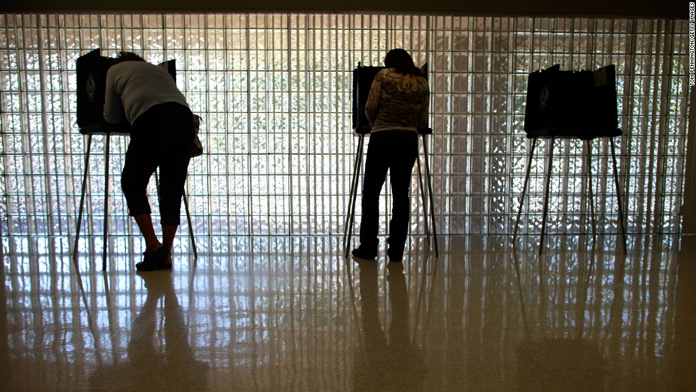 Voters cast their ballots in Mansfield, Texas.