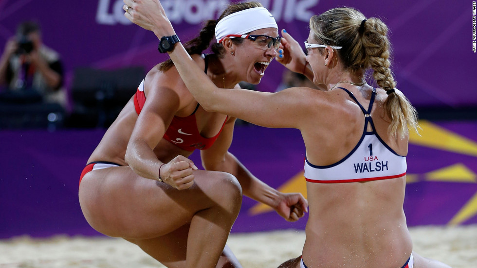 "As <a href=""http://sportsillustrated.cnn.com/2012/olympics/2012/writers/phil_taylor/08/08/may-treanor-walsh-gold-medal-beach-volleyball/index.html#ixzz2BMchvfew "">Sports Illustrated writer Phil Taylor says</a>, ""With all due respect to the other teams who compete in beach volleyball ... there is the duo of Misty May-Treanor and Kerri Walsh Jennings, and there is everybody else."" May-Treanor, left, and Walsh Jennings went into retirement after the 2008 Beijing Olympics. During their time off, May-Treanor tore her Achilles tendon while rehearsing for ""Dancing With the Stars,"" and Walsh Jennings gave birth -- twice. Still, the duo reunited to dominate the 2012 Olympics, losing only one set in their quest for gold."
