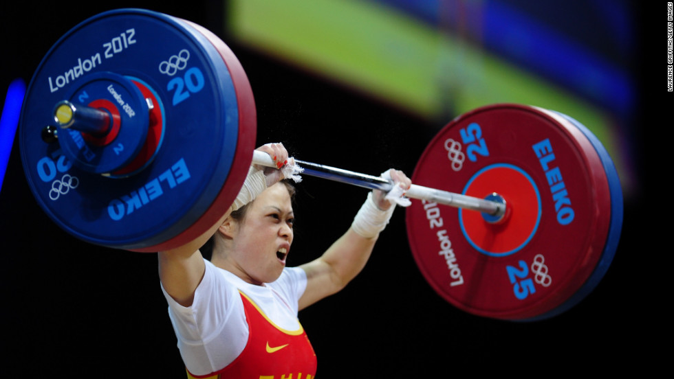 "China's Wang Mingjuan weighs only 106 pounds, but she can lift more than 200. Wang claimed the weightlifting gold medal of the 2012 Olympic Games in the women's lightest category. The 26-year-old four-time world champion has not been defeated in international competition since winning her first world title in 2002, <a href=""http://www.dailymail.co.uk/sport/olympics/article-2180318/London-2012-Olympics-Wang-Mingjuan-wins-weightlifting-gold.html#ixzz2BMmxKGCx "" target=""_blank"">according to the Daily Mail</a>."