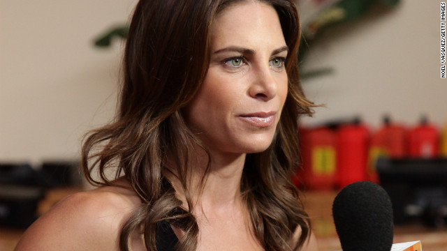 "Jillian Michaels speaks with ""Extra"" at The Grove on January 3, 2011, in Los Angeles."