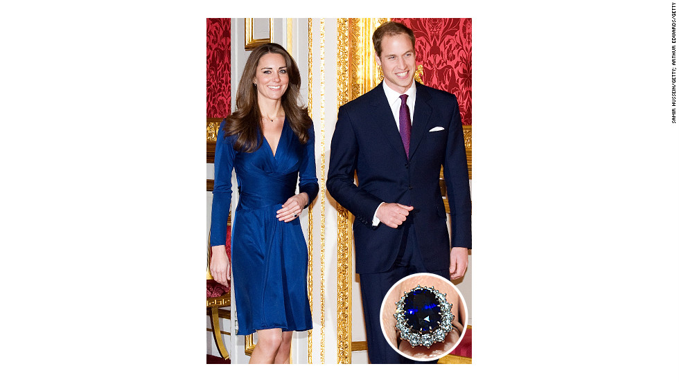 Prince William proposed to his longtime girlfriend in 2010 with the same 18-carat sapphire and diamond ring that his father, Prince Charles, gave to his mother, Princess Diana.