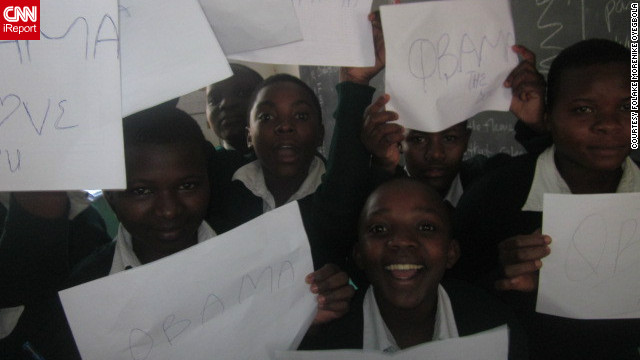 Students in Tanzania expressed their joy at Barack Obama's re-election