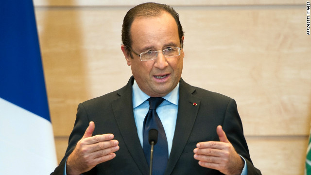 President Francois Hollande, pictured here on November 4, 2012, pledged legislation on same-sex marriage earlier this year.