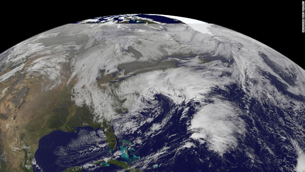 This satellite image captured at 9:15 a.m. ET on Wednesday, November 7, shows the winter storm.