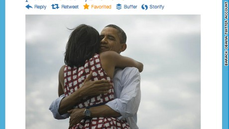 This tweet by @BarackObama quickly became the most retweeted post of all time