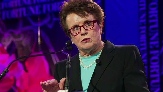 Billie Jean King fights for equality