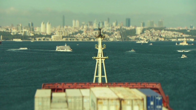 Navigating the busy Bosphorus