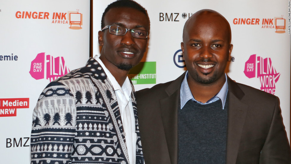 Left to right : Olwenya Maina, who plays Oti in Nairobi Half Life, and director Tosh Gitonga, at the film's German premiere in Berlin on October 10.<br /><br />Gitonga says he wants to change views about crime in Kenya.