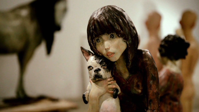 Sculptor shapes lifelike masterpieces