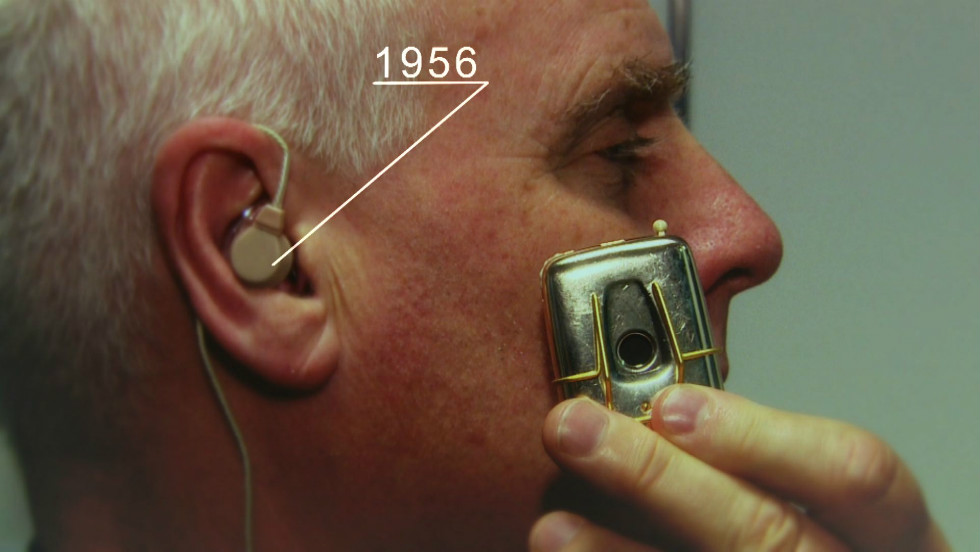 Half a century ago, hearing aids weren't quite so discreet.