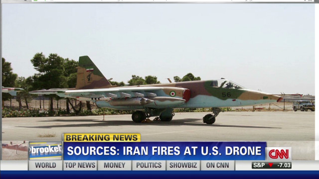 Iranian jets fire on U.S. drone