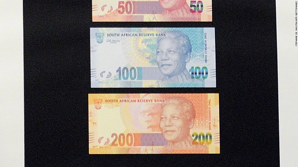 In 2012, South Africa launched banknotes featuring a picture of the former president and anti-apartheid icon on the front.