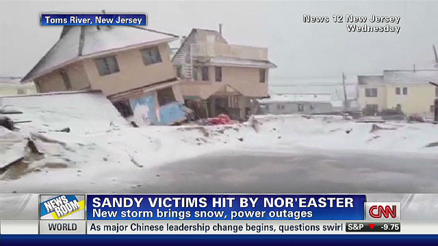 Sandy victims hit by nor'easter