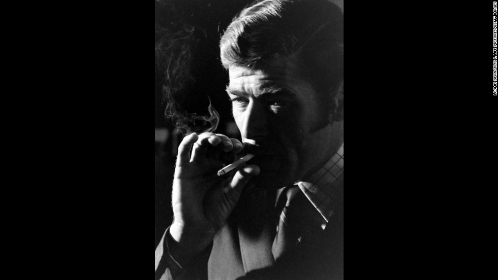 Anthony Rogers smokes a cigarette during his audition.