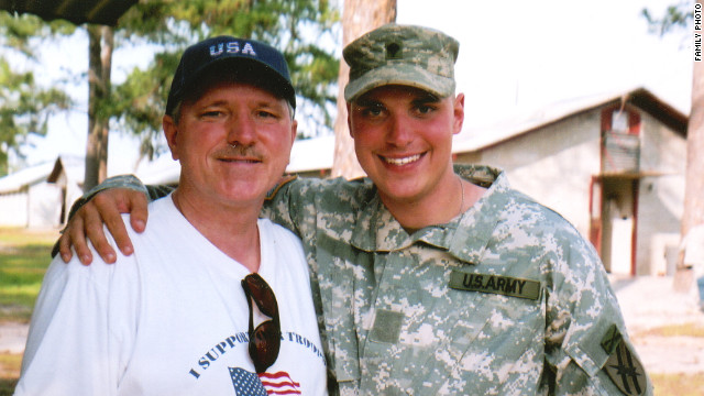 Robert with Mike at Fort Stewart before Mike's National Guard unit left for Iraq in the summer of 2005.
